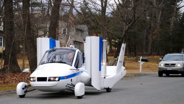 Terrafugia Flying Car Prototype on Road