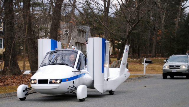 Terrafugia Flying Car Prototype on Road
